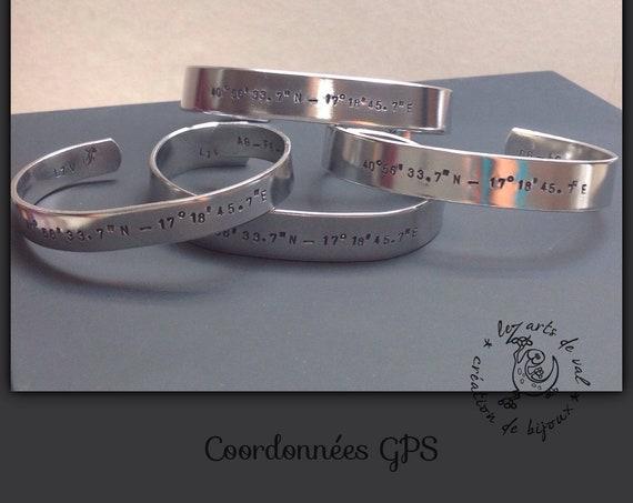 Bracelet Coordonnées GPS Homme