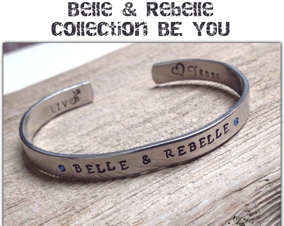 "Bracelet jonc fin  "" Belle & Rebelle ""  Collection BE YOU"