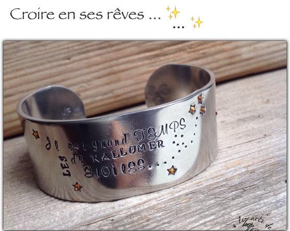 "Large bracelet jonc ""Rallumer les étoiles"""