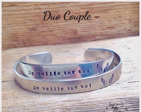 Bracelets jonc couple