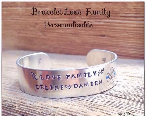 Customizable bracelet,first name bracelet, tree of life, custom jewel,bracelet rush, birthstone, personalized gift, mom gift