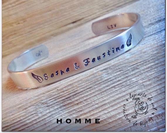 Bracelet homme prénoms