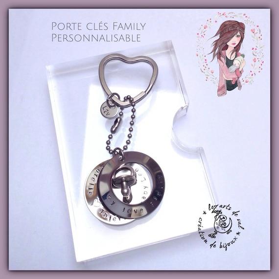 Magnifique porte clés personnalisable  Family