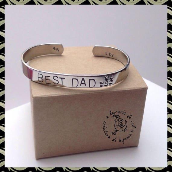 """Bracelet jonc """"BEST DAD"""" pour Homme"""