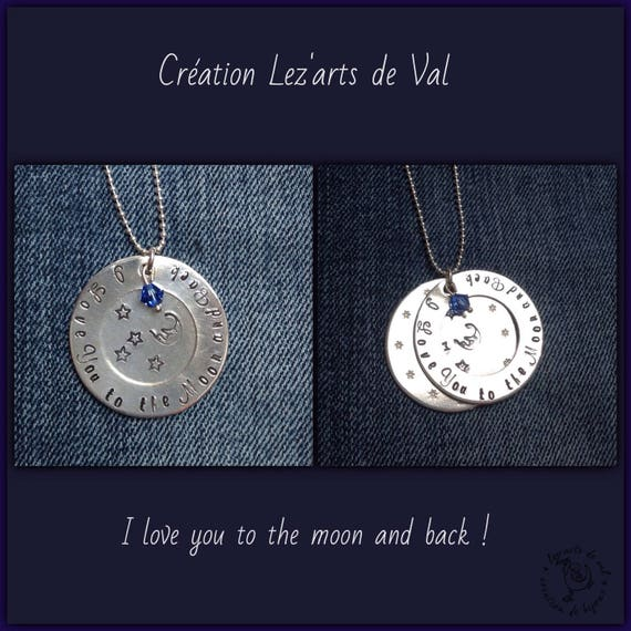 Double necklace aluminum pendant and small (spinning top (s) personalized Swarovski Crystal