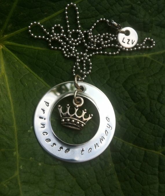 """Personalized necklace, """"little Princess"""" Crown, name, personalized necklace, fairy, kid necklace"""