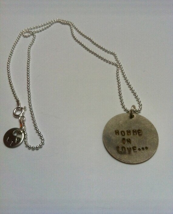 """Necklace for men """"man in love"""", Valentine's Day"""