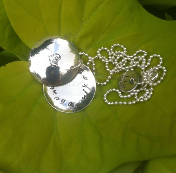 "Necklace silver personalized ""Secret"" big model"