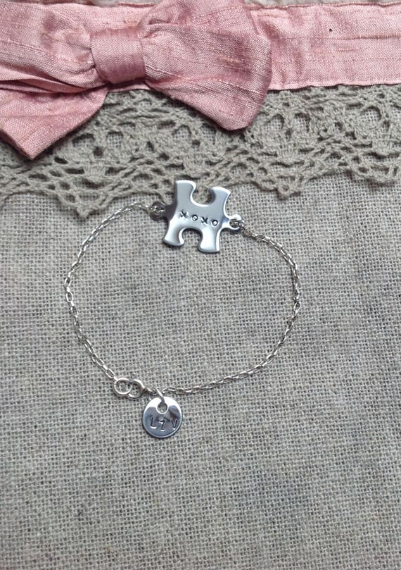 "Bracelet mini puzzle ""xoxo"""