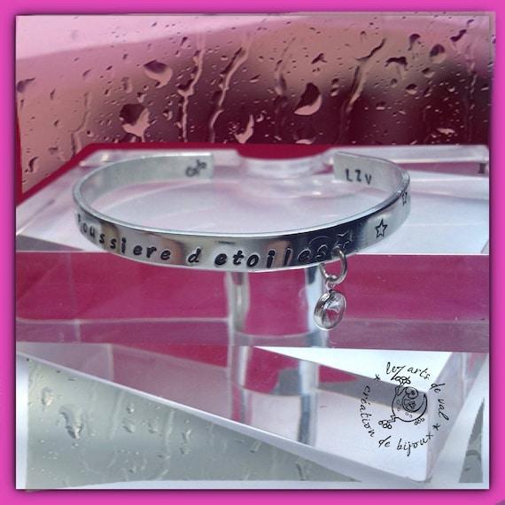 "Aluminum ""Stardust"" and small swarovski crystal bracelet"