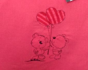 Tote Bag bear heart balloons