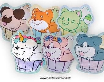 Pillow Plush || Cute Pet Pillow, Cute Plushy, Kawaii Cat and Dog Shaped Pillows, Dog Lover Gift, Cat Lover Gift