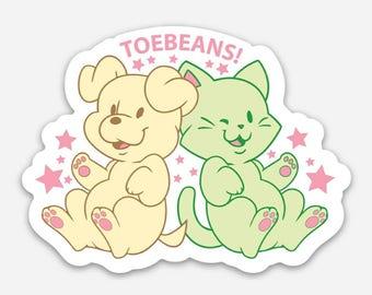 Toebeans Fridge Magnet || Funny Magnet, Dog Magnet, Cat Magnet, Kawaii Magnet, Cat Lover Gift, Dog Lover Gift, Free Shipping