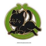 B GRADE - Black Cat Fan Club Enamel Pin || Cute Cat Pin, Crazy Cat Lady, Cat Mom Gift