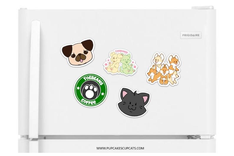 Fridge Magnet  Funny Magnet Dog Magnet Cat Magnet Kawaii image 0