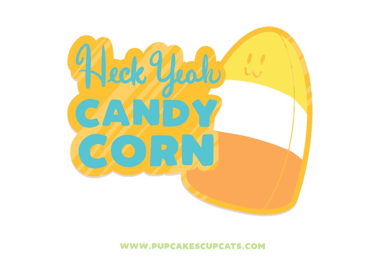 PREORDER: Heck Yeah Candy Corn Enamel Pin  Candy Pin Candy image 0