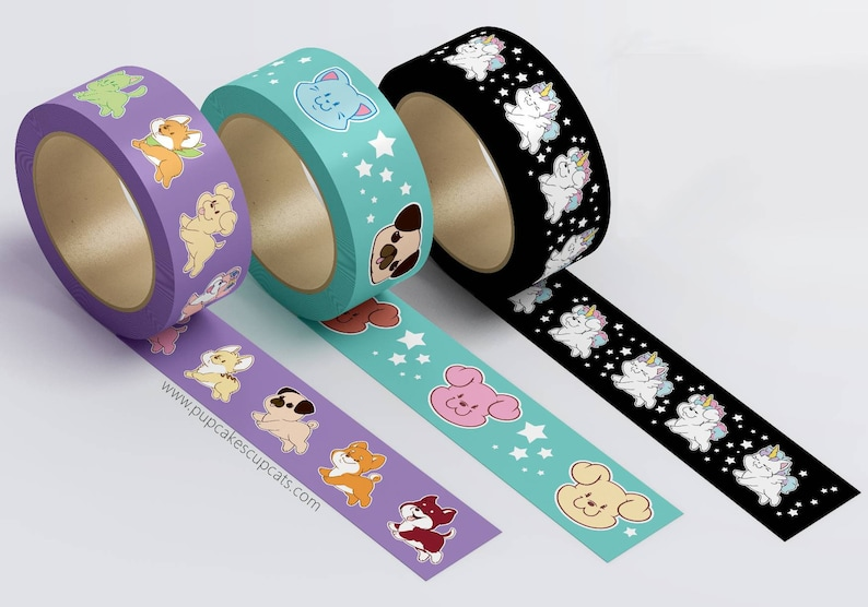 Washi Tape  Kawaii Pet Washi Tape Pastel Washi Tape Set image 0