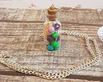 -> Macarons vial necklace