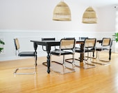 SOLD Vintage CESCA Marcel Breuer Set of FOUR 1960 39 s Mid Century Cane Rattan Rotin Dining Chair Chair- Cane Chair