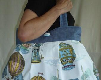 Bag reversible Jeanne predominantly Blues