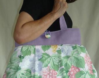 Bag reversible Ingrid green and purple