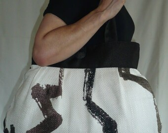 Bag reversible Yvette graphic pattern