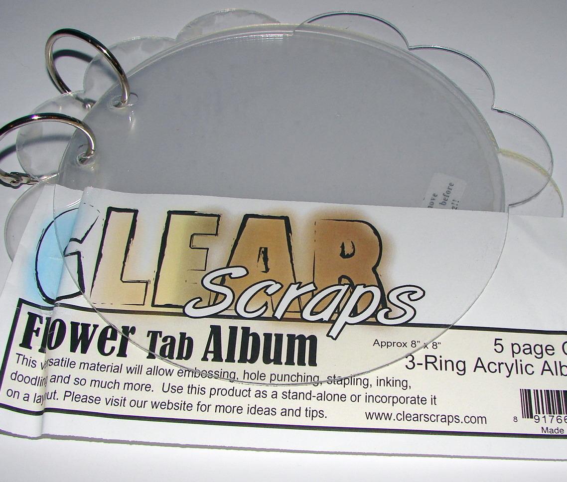Album Clear Clear Album Scrap Flower tab Album 547818