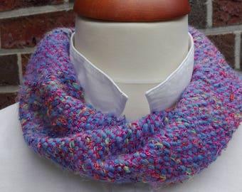 loop, hose scarf, wool, gift, blue, spring, lavender, Azur