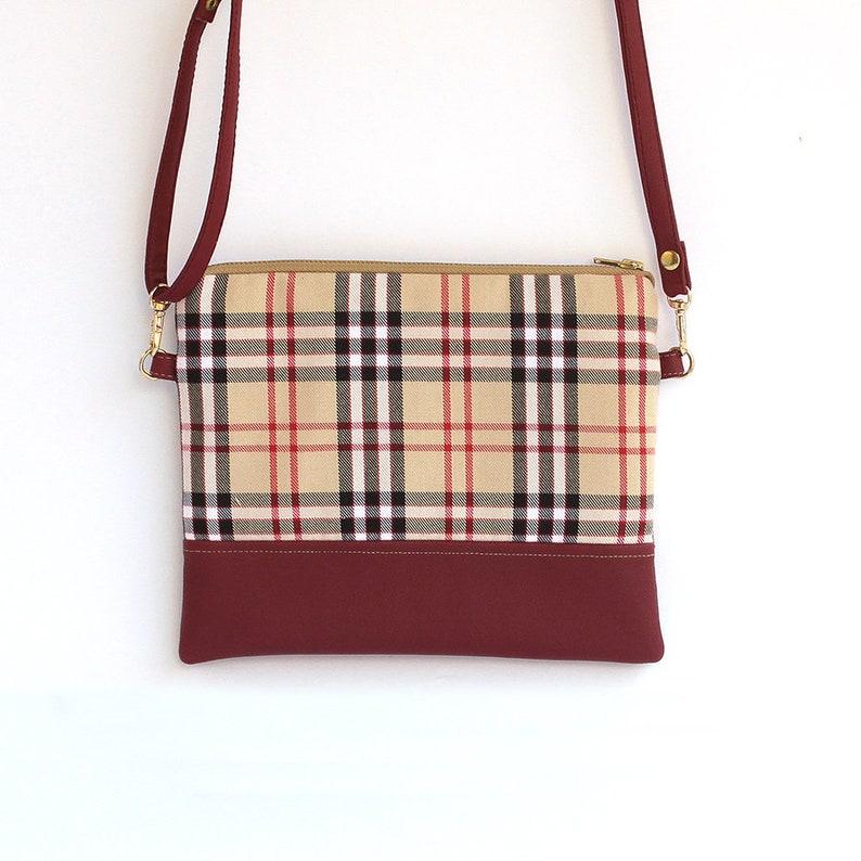 Small Shoulder Bag Burberry Fabric Eco Leather. Purse Beige  0da53113dcff0