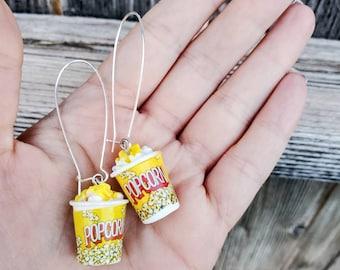Popcorn Earrings - Food Earrings- Jewelry