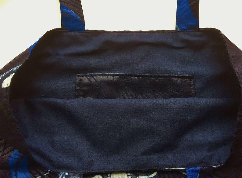 Beach Bag Shoulder Bag in African Wax Shopping Bag Tote Bag