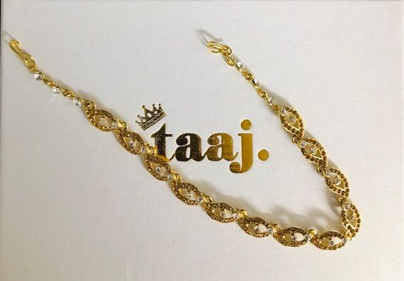 Gazal Gold diamanté hair chain matha patti headpiece hijab accessory indian bridal jewellery