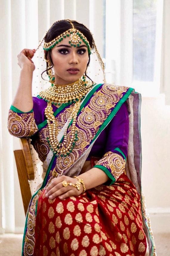 Hasna Gold kundan green Indian bridal Pakistani wedding jewellery set