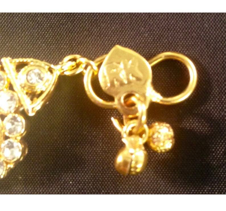 Gold and diamante pair anklet payal foot chain