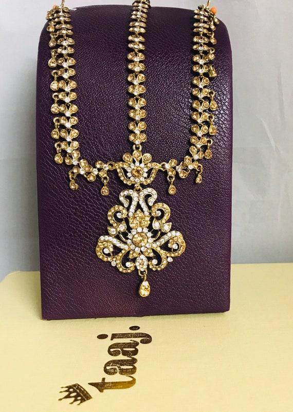 Sacha Gold diamanté headpiece mattha patti tikka hijab boho grecian hair jewellery