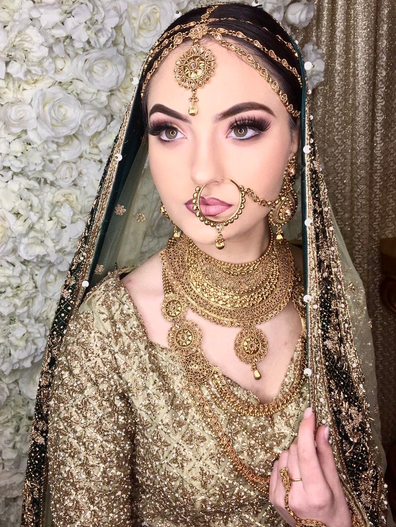 Engagement & Wedding Golden Plated Traditiona Indian Fashion Jewelry Wedding Forehead Tikka Women New High Standard In Quality And Hygiene