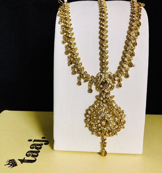 Talika Gold diamanté headpiece matha patti hair chain hijab boho grecian jewellery