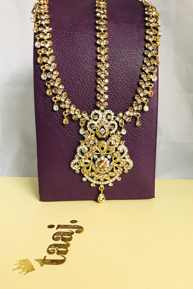 Jewelry & Watches Diamante Hair Head Tikka Indian Tikka Jhumar Grecian Bohemian Style