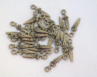 1 encanto de paraguas de bronce 25 x 7 mm