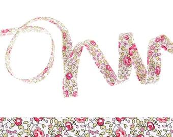 Bias Liberty Eloise pink x 50 cm flower ribbon for bracelets...