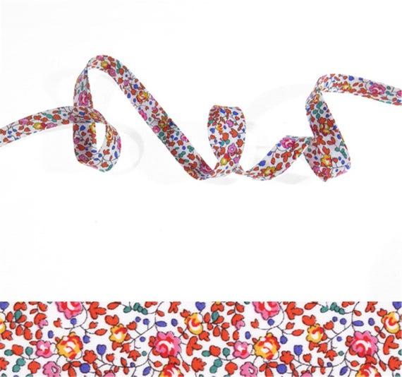 jewelry. Bougainvillea x 50 cm Tana Lawn Ribbon Bracelet Bias Liberty Betsy