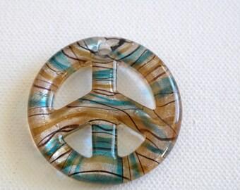 Peace style Murano Lampwork Glass pendant