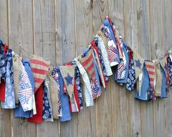 Custom Patriotic America 4th of July Fabric Banner Combination Order