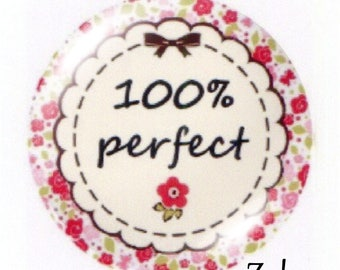 1 cabochon 30mm glass, I'm, 100% perfect flowery pink tone