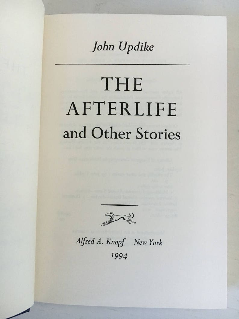 The Afterlife (and Other Stories) by John Updike [First Edition]