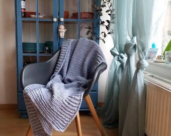 "Crocheted blanket ""Cecilia"""