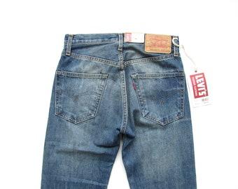 3a83284ab7e Size 28   60s Vintage 1967 Repro LVC Levis Vintage Clothing Big E Talon 42  Zipper 505 Selvedge Selvage Denim Jeans