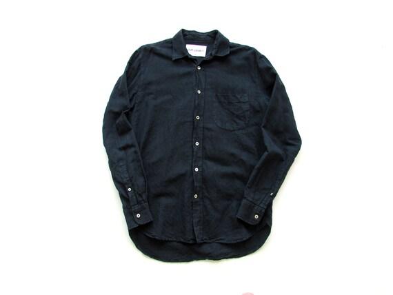 Size S-M | Our Legacy Black Linen Button Down Shir