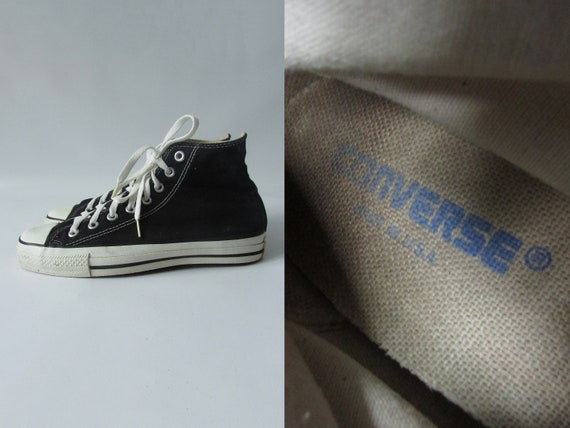43260fdbb455 Size UK7 90s Vintage Converse All Star Chuck Taylor Hi Made