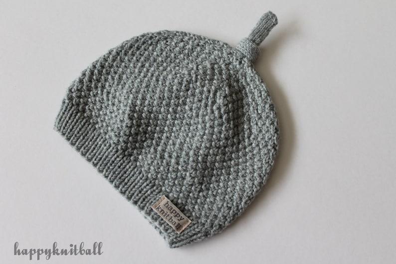 94285d8c9f7 Merino Wool Knit Baby Beanie Handmade Newborn Merino Wool